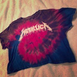 Metallica crop top